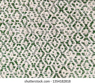 beige/ green diamond twill weaving pattern, two tone color cotton rope weave texture background