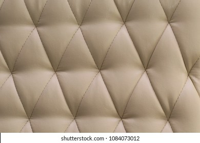 beige leather sofa. Beige Leather Sofa With Buttons Texture Background Closeup