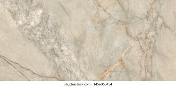 Beige marble pattern with curly light and dark veins. Abstract texture and background, Marble for interior-exterior home decoration and ceramic tile surface.