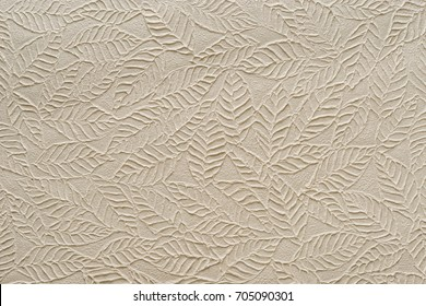 Beige paper with embossed leaves