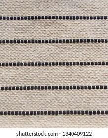 Beige rough canvas with dark blue cotton ropes decoration texture background