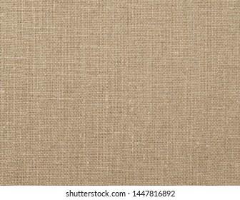 beige rough linen woven fabric background
