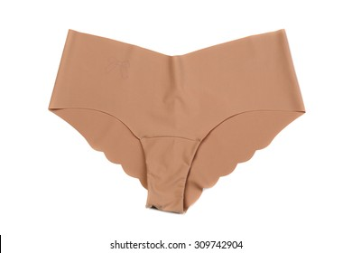 8d8884960d Beige seamless female panties in a pattern