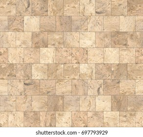 Beige Stone Tiles Texture with Black Joint Line