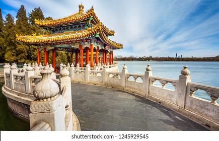 In Beihai Park in Beijing China