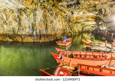 Beihai Tunnel in Nangan, A Former Military Tunnel, Now Turn into A Tourist Attraction With Canoe Navigating Service, Matsu, Taiwan