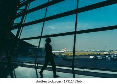 Beijing / China - 12/10/2018: Almost empty Beijing Capital International Airport