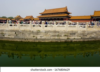 Beijing, China. 18th May 2018 : The Forbidden City or Imperial Palace was built in the 13th century during the Yuan Dynasty when it was overcrowded before the Covid 19 virus invaded China.