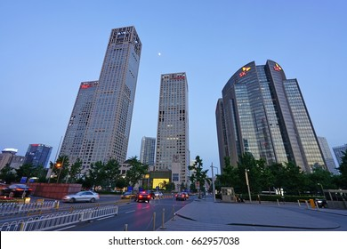 BEIJING, CHINA -5 JUN 2017- Day view of the Beijing Yintai Centre skyscraper building complex located in Central Business District of Beijing opposite the World Trade Center.