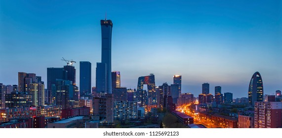 Beijing - China - 7 April,2018: Central Business District of Beijing. It is the home of many high-end enterprises such as finance, insurance, real estate and internet.