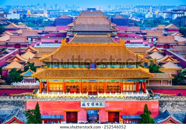 Beijing, China at the ancient Forbidden City.