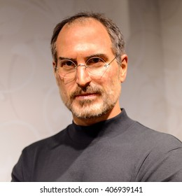 BEIJING, CHINA - APR 6, 2016: Steve Jobs at Beijing Madame Tussauds wax museum. Marie Tussaud was born as Marie Grosholtz in 1761