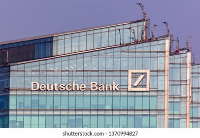 BEIJING, CHINA - APRIL 03, 2019: Deutsche Bank (China) Co., Ltd., Headquarters. Deutsche Bank AG is a German multinational investment bank and financial services company founded in 1870.