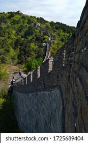 BEIJING, CHINA – APRIL 25TH, 2017: Great Wall of China, Mutianyu section, Beijing, China
