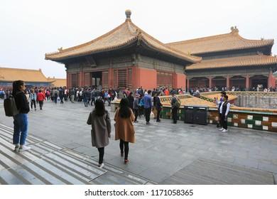 Beijing, China, April 3, 2017. The Forbidden City in Beijing