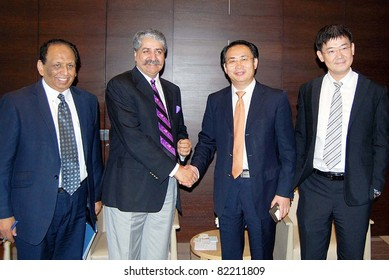 BEIJING, CHINA - AUG 03: Pakistan Water and Power Minister, Syed Naveed Qamar meets Han Shuwang Chairman China Energine International, on  August 03, 2011in Beijing.