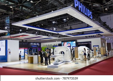 BEIJING, CHINA- AUGUST 19, 2017:  Visitors are seen at the Philips booth during the China International Health Industry Expo (CHINA-HOSPEQ 2017) at China National Convention Center.