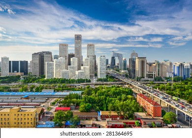 Beijing, China CBD skyline.