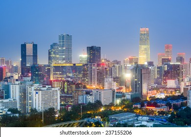 Beijing, China downtown city skyline.