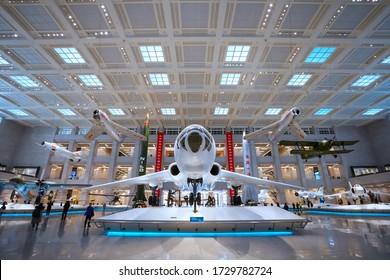 Beijing, China - Jan 10 2020: Military Museum of the Chinese People's Revolution exhibits cultural relics, material objects and documents of the achievements and history of Chinese military