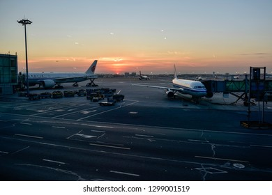 Beijing, Beijing / China - January 14 2019: Beijing Capital  Airport is the largest airport in China. it showcases the robust infrastructure development of this emerging market.
