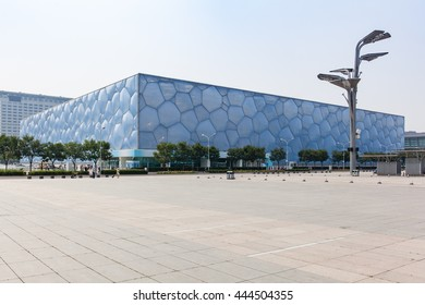Beijing, China - Jun 20, 2016 : View of the National Aquatic Center, Water Cube, of Beijing.