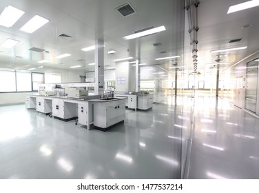 BEIJING, CHINA - JUNE 03, 2019: Drug manufacturing laboratory equipment.