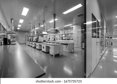 BEIJING, CHINA - JUNE 03, 2019: Medical Scientific Research Labratory of viruses and drugs.