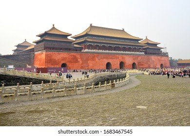 Beijing, China - June 11, 2014: View from Forbidden City Complex at Day