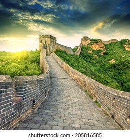 In Beijing, China, the majestic Great Wall.