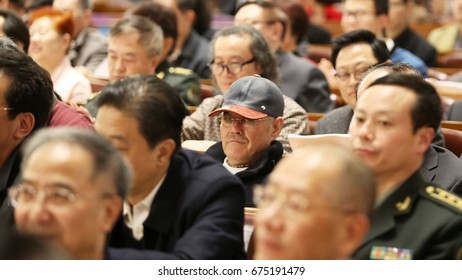 Beijing China - March 12th 2016:The Chinese annual sessions of 12th NPC and CPPCC held in beijing.Benshan Zhao  is one of the CPPCC members.