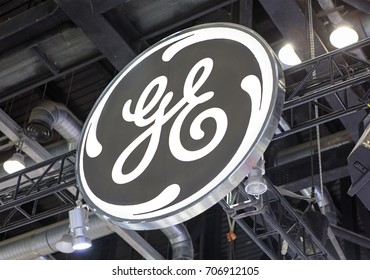 BEIJING, CHINA- MARCH 26, 2017:  General Electic brand sign. General Electric (GE), is an American corporation founded in 1892 that serves Wordwide.