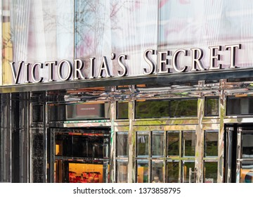 BEIJING, CHINA- MARCH 31, 2019: Victoria's Secret store. Victoria's Secret is an american company that sells lingerie, womenswear, and beauty products, expanded with franchises internationally in 2010