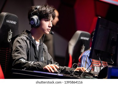 Beijing, China- may 13,2019: Famous Chinese young actor Luo Yunxi, Leo Luo, Handsome man, chinese movie and teleplay stars, Professional esports players
