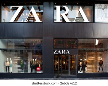 BEIJING, CHINA - NOVEMBER 17, 2014: Zara store. Zara is one of the largest international fashion companies and it's the flagship chain store of the Inditex group.