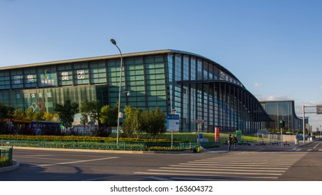 BEIJING, CHINA - OCT 10, 2014: China National Convention Center in Beijing, China.