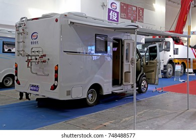 Beijing, China - Sept 20, 2017: Motorhome at BICES 2017 in Beijing