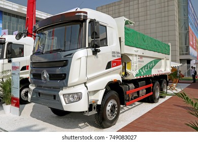 Beijing, China - Sept 21, 2017: Truck Sany at BICES 2017, Beijing