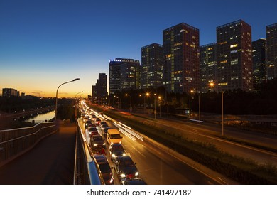 Beijing - China - September 19 ,2017: Central Business District of Beijing. It is the home of many high-end enterprises such as finance, insurance, real estate and internet.