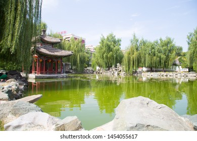 BEIJING, CHINA, SEPTEMBER 24, 2017: Grand View Garden of Dream of the Red Chamber at Beijing