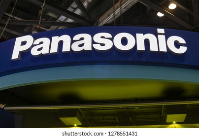 BEIJING, CHINA-APRIL 14, 2017: Panasonic sign; Panasonic Corporation is a Japanese multinational corporation founded in 1918, work in the industry of electronics, semiconductors and home appliances.