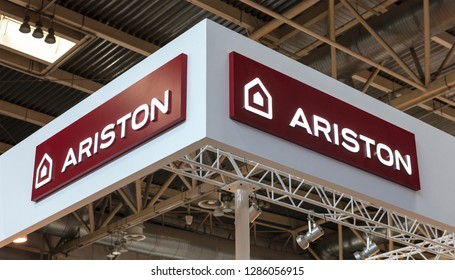 BEIJING, CHINA-MAY 20, 2017: Ariston Thermo sign; Ariston Thermo is a Thermal comfort company founded in 1930.