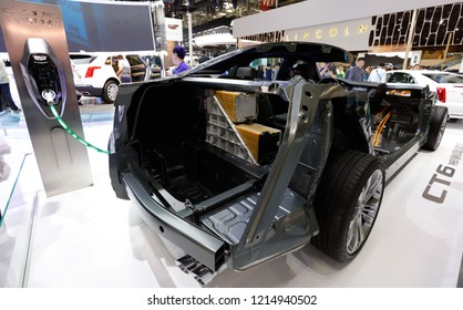 BEIJING CHINA-May 3, 2016: The Cadillac CT6, a luxury car brand owned by General Motors Group, was born in Detroit, the city of American automobiles. It will be officially launched in November 2018.