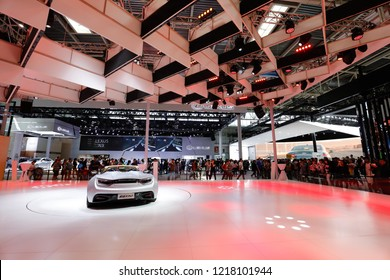 BEIJING CHINA-May 3, 2016: Beijing motor show, TOYOTA motor Investment Co., Ltd. LEXUS motor. Lexus brand ranks first in the luxury car sales in the United States for 11 consecutive years.