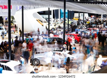 BEIJING CHINA-May 3, 2016: Volkswagen, the capital car exhibition in Beijing, China. Headquartered in Wolfsburg, Germany, it is one of the four largest automobile manufacturers in the world.