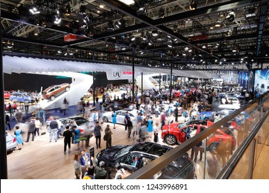 BEIJING CHINA-May 3, 2016:Chinese consumers visit concept cars at the Beijing Auto Show to buy electric and fuel-powered cars. China is expected to become the world's largest car owner by 2020.