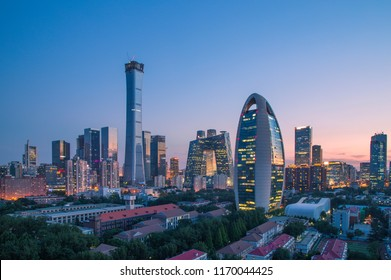 Beijing City Skyline Buildings
