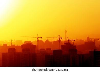 Beijing city under construction