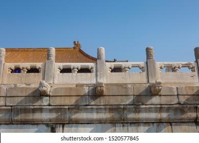 beijing forbidden city of china taihemen gate tourists zhengdaguangming ancient emperors ming qing dynasty