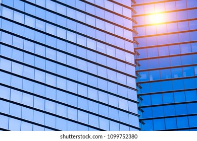 Beijing high and new technology park in Zhongguancun, China, high-rise building glass curtain wall, night view lights on the top. Picture of the background of urban construction.